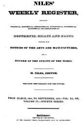 Niles' Weekly Register: Volume 40
