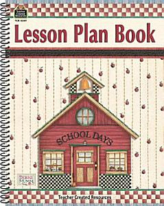 School Days Lesson Plan Book Book