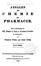 Justus Liebig's Annalen der Chemie: Bände 33-34