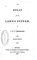 An Essay on the Lord s Supper     PDF