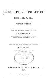 Aristotle's Politics: Book 1