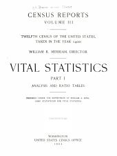 Census reports: Volume 3