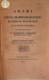 Adami Gesta Hammaburgensis ecclesiae pontificum