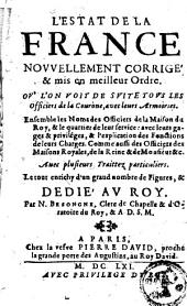 L'estat de la France ou l'on voit de suite tous les officiers de la Couronne avec leurs armoiries