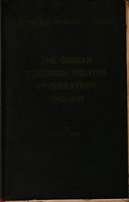 The German Northern Theater of Operations 1940 1945 PDF