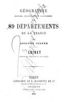 G  ographie  histoire  Statistique et arch  ologie des 89 d  partements de la France par Adolphe Laurent Joanne PDF