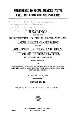 Amendments to Social Services  Foster Care  and Child Welfare Programs PDF