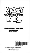 Krazy Quotes for Kids