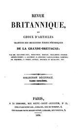Revue britannique: Revue internationalereproduisant les articles des meilleurs écrits periodiques de l'étranger, complètés par des articles originaux
