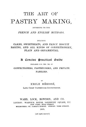 The Art of Pastry Making