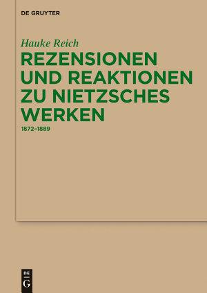 Rezensionen und Reaktionen zu Nietzsches Werken PDF