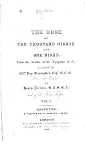 The Book of the Thousand Nights and One Night: Volume 1