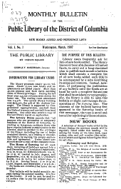 Monthly Bulletin of the Public Library of the District of Columbia: Volumes 1-3