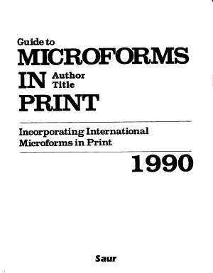 Guide to Microforms in Print PDF