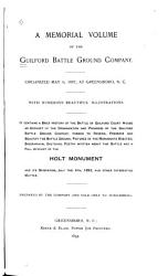 A Memorial Volume Of The Guilford Battle Ground Company Book PDF