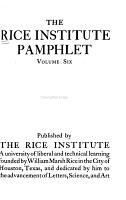 Rice University Studies PDF