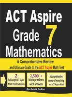 ACT Aspire Grade 7 Mathematics PDF