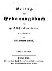 Gesang- und Erbauungsbuch für christliche Gemeinden, herausgegeben von Dr. Eduard Duller