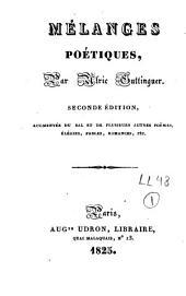 Mélanges poétiques: Volume1