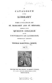 A Catalogue of the Library of the College of St. Margaret and St. Bernard