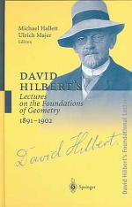 David Hilbert's Lectures on the Foundations of Geometry 1891–1902