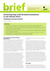 Governing large-scale farmland investments in sub-Saharan Africa: Challenges and ways forward