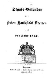Staats-Kalender der freyen Hansestadt Bremen