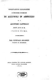 Osservazioni geologiche di Accumoli in Abruzzo