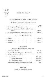 Commentary on the Prophets of the Old Testament: Commentary on the books of Haggái, Zakharya, Mal'aki, Yona, Barûch, Daniel