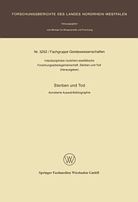 Sterben und Tod PDF
