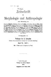 Zeitschrift für Morphologie und Anthropologie: Band 7