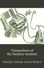 Transactions of the Sanitary Institute