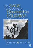 The SAGE Handbook for Research in Education PDF