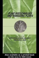 Plant Biotechnology and Transgenic Plants PDF