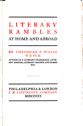 Literary Rambles at Home and Abroad