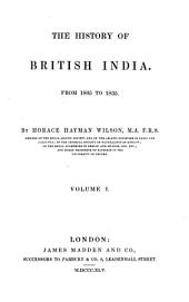 The History of British India: Volumes 7-9