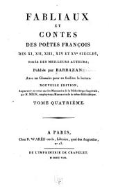 Fabliaux et contes des poétes françois des XI, XII, XIII, XIVe et XVe siècles: Volume4