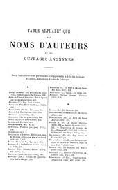 Catalogue des livres precieux manuscrits et imprimés faisant partie de la bibliothèque de m. Ambroise Firmin-Didot: table alphabétique des noms d'auteurs & des ouvrages anonymes, suivie de la liste des prix d'adjudication, Volume6