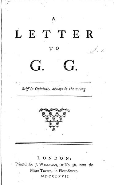 Download A Letter to G  G   i e  G  Grenville  on American Taxation  by L   Book