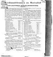 Der Ferdinandsbrunnen zu Marienbad in seiner gegenwärtigen chemischen Zusammensetzung