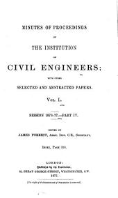 Minutes of Proceedings of the Institution of Civil Engineers: Volume 50