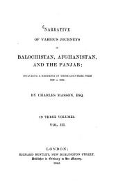 Narrative of Various Journeys in Balochistan, Afghanistan and the Panjab: Including a Residence in Those Countries from 1826 to 1838 ... in 3 Volumes, Volume 3