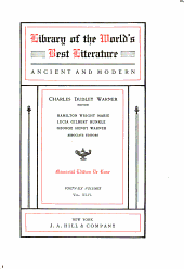 Library of the World's Best Literature, Ancient and Modern: Volume 46