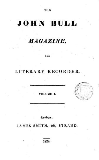 The John Bull magazine  and literary recorder PDF