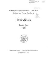 Catalog of Copyright Entries PDF