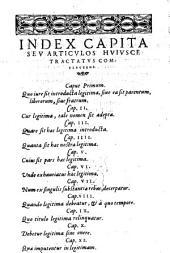 Tractatus liberorum, parentum, ac fratrum, succincte et concise, teretem et integram legitimarum materiam continens