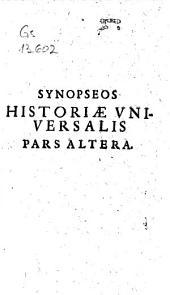 Synopsis historiae universalis: Volume 2