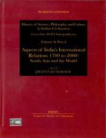 Aspects of India s International Relations  1700 to 2000 PDF