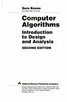 Computer Algorithms PDF