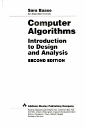 Computer Algorithms Introduction To Design And Analysis